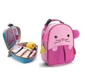 Cute Zoo Cartoon lunch Bags Mini Oxford Canvas handbags Gift for Children Kids Free Shipping