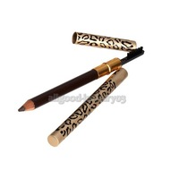 e#a1 New Eyebrow Pencil Two Sides With Brush Leopard Design Metal Casing Fashion