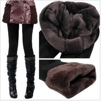 2013 Free shipping autumn and winter Lady's flannelette leggings Double layer warm leggings/trousers