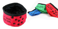 Free shipping Wholesale Price Oxford Cloth Portable Folding Pet Dog Bowls