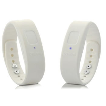 Fashion Sport Bluetooth Bracelet Vibration, Reject Call Button, White