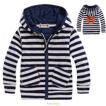 Hotsale boys striped jacket children autumn hoodies kids outwear coats jackets 5pcs/lot