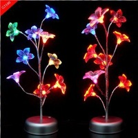 Free Shipping New Arriver Colorful Fluorescent  Crystal Flowers Lights Glowing Trees With Stable Quality Wholesale And Retail