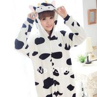 K2 Flannel animal cow one piece sleepwear long-sleeve autumn and winter coral fleece costume