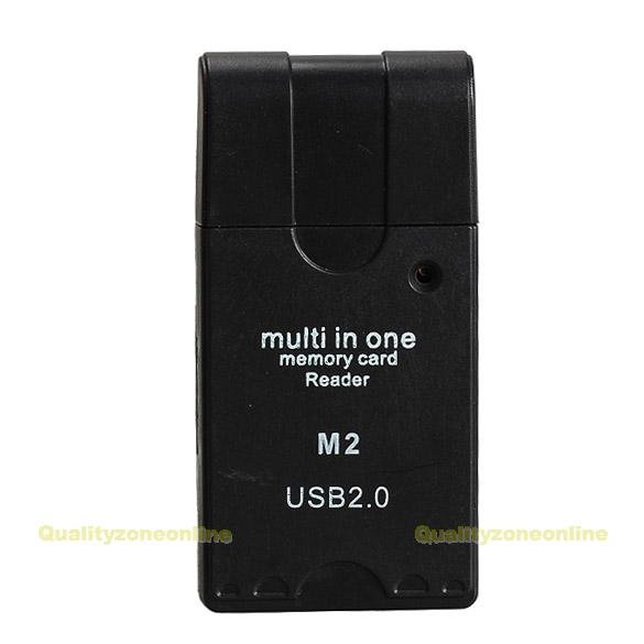 Multi Mini USB 2.0 SD TF M2 Mirco MS MMC RS MMC All In One Memory Card Reader #Q(China (Mainland))