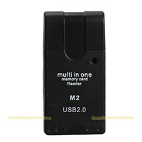 Multi Mini USB 2.0 SD TF M2 Mirco MS MMC RS MMC All In One Memory Card Reader #Q