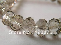 10mm glass beads DIY materials wholesale beads plating transparent gray beads jewelry accessories