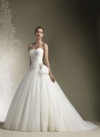 Hot New Autumn Bridal Gowns Plus Size Organza Short Trailing Wedding Dress Sexy Church Stereo Flower Decoration Wedding Dresses