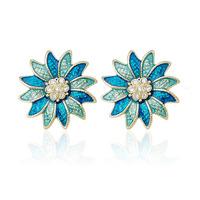 Free shipping Stud earring earrings vintage fashion flower female fashion accessories earring gift