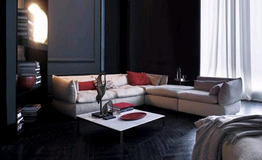 Sofa fabric french modern design 2013 new living room l for V shaped living room