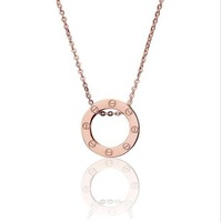 Version type screws necklace love series rose gold lovers necklace rose gold men and women accessories necklace