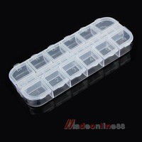 Empty Nail Art Divided Plastic Boxes Case Storage M3AO
