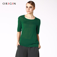 Origin women's sweater 2013 mulberry silk o-neck top all-match sweater