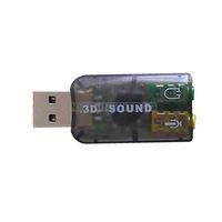 UN2F Virtual 5.1 Channel Track 3D Sound Card Speaker Mic Earphone Audio Adapter