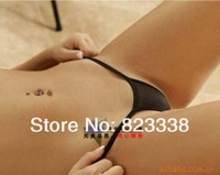 Free Shiping  5 pcs Black Mini Simple Sexy Underpants Comfortable Thongs Women's G-string 2014 New