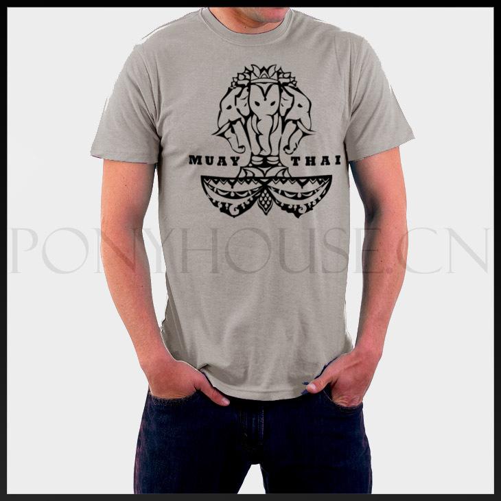 Thai Elephant Mma Muay Thai Elephant t Shirts Top Lycra Cotton Short Sleeve t Shirt High