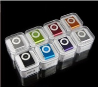 New mini clip mp3 player with earphone,usb cable and box!  8colors to choose,support micro sd card,1pc