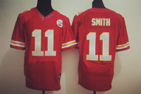 Free Shipping Wholesale Men's Kansas City #11  Alex Smith Elite Jersey Team Color Jersey American Football Jersey Mixed Order