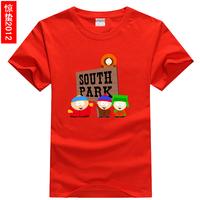 Cartoon south park male Women 100% lovers cotton o-neck short-sleeve T-shirt