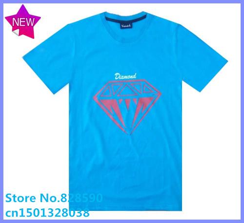 Free Shipping Brand Cheap Diamond Couple brand names crew neck cotton discount diamond supply t shirts co clothing(China (Mainland))