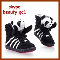 Canvas sneakers shoes. Hot sale! 2013 fashion dress shoes for lady. casual sport panda lovely style footwear, Free Shipping!