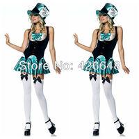 New arrive!!Free shipping cosplay halloween Tea Party Hostess Costume Magician uniform,Sexy dress