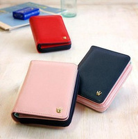 Free shipping Color block short design wallet 2013 women's zipper wallet fashion wallet