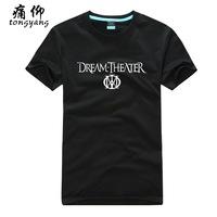 Cotton short-sleeve 100% T-shirt plus size dream theater - 1