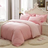 Lambeth four piece bedding set 100% cotton sheets piece set 100% 1.8 cotton bedding princess polka dot textile