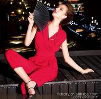 High quality hot-selling, 2013 fashion women's cross collar slender waist slim  jumpsuit ,harem pants,women clothing