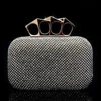 New Latest Full rhinestone sparkling austrian diamond luxury rhinestone    bridal  clutch  chain  banquet   Evening Handbag