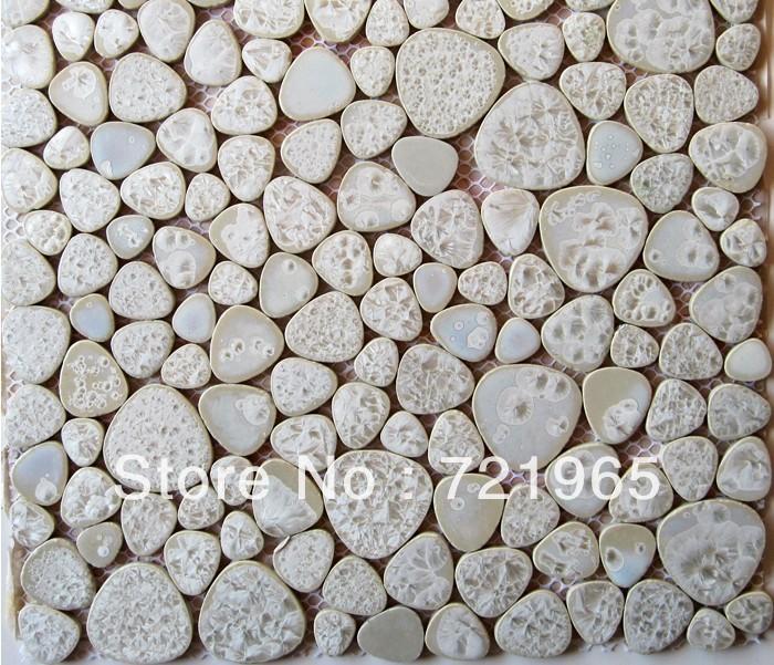 Porcelain Mosaic Tiles Pebble Mosaic Tile PPMT009 Bathroom Floor Tile
