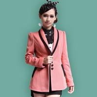Dadayuga2013 spring elegant slim blazer outerwear short design medium-long women's small western style