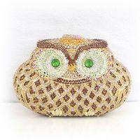 New Latest 704a50 full rhinestone owl    women's  fashion banquet  princess   Evening Handbag