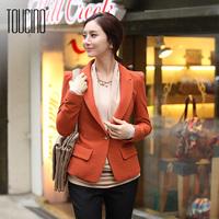 Toucino 2013 autumn slim blazer one button long-sleeve plus size female blazer outerwear