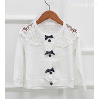 Children Spring & Autumn outerwear  girls lace  cardigan