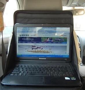 Free shipping Car laptop mount car computer rack computer desk car chair back folding sundries storage bag(China (Mainland))