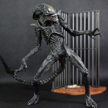Q version NECA pvc ALIEN Action Figures toy  Fighting Alien AVP2 can be active