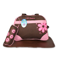 Free Shipping 5pcs/set Baby Nappy Diaper Bag For Mom Mother Shoulder Mummy Bag Changing Bag