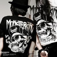 2013 men's summer clothing t-shirt hip-hop bboy rock t-shirt male Women lovers short-sleeve T-shirt punk