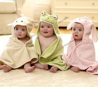 Hot!Retail Boy Girl Giraffe Baby Bathrobe/Baby Shower Gift Bath Towel/Kids Frog Bath Terry Infant Rabbit Bathing/Baby Robes