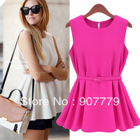 Free shipping Fashion knitted 1375 formal pleated short design one-piece dress small short skirt