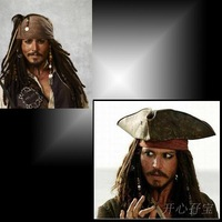 Hot-selling product pirate jack wig pirate performance props halloween performance props  free shipping
