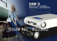 50% off 1pcs/lo 2 Dual USB 12000mAh power bank 12000mAh  moblie phone backup powers External Battery pack 12000mAh Free shipping
