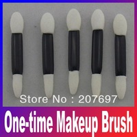 wholesale disposable One-time makeup brush double end sponge eyeshadow brush +50pcs/lot Free Shipping