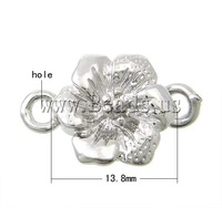 Free shipping!!!Zinc Alloy Magnetic Clasp,Christmas Gift, Flower, platinum color plated, single-strand, nickel