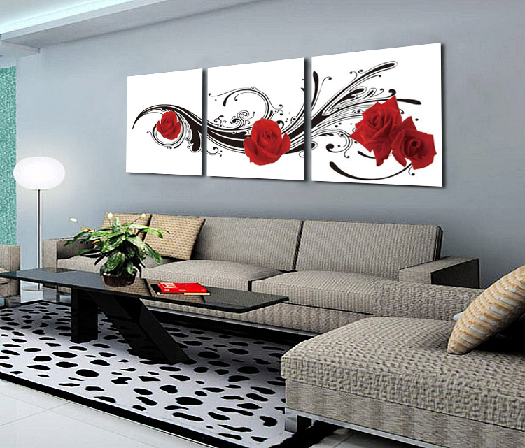 Peinture moderne design decoration murale peinture encadre painting picture f - Decoration murale design metal ...
