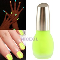 NI5L Fluorescent Green Neon Nail Polish Glow in Dark Lacquer Nail Varnish 15ml