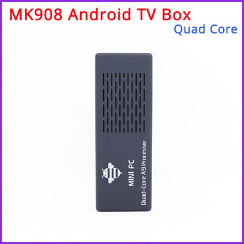 Free Shipping - New  MK908 Quad Core Android TV Box / Mini PC RK3188 2GB DDR3+8GB Build in Bluetooth4.0 /WiFi 1080P