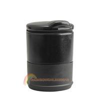 R1B1 Unique Black Auto Portable Car Cigarette Ashtray Cheap Adhesive Holder